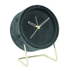 Alarm clock lush velvet grijs