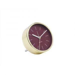 Alarm klok minimal burgundy red