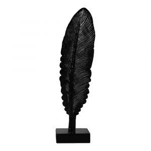 Decoratie veer zwart