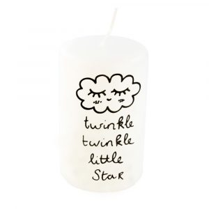 Zwart wit kaars twinkle twinkle little star