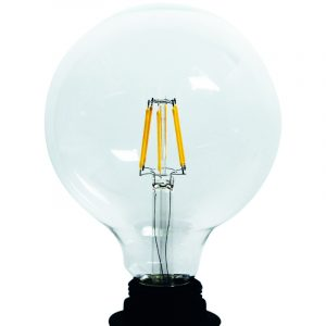 Led filament lamp G125