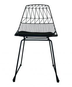 Wire stoel zwart