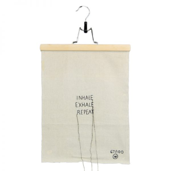 limited editions stitched art | Inhale Exhale Repeat