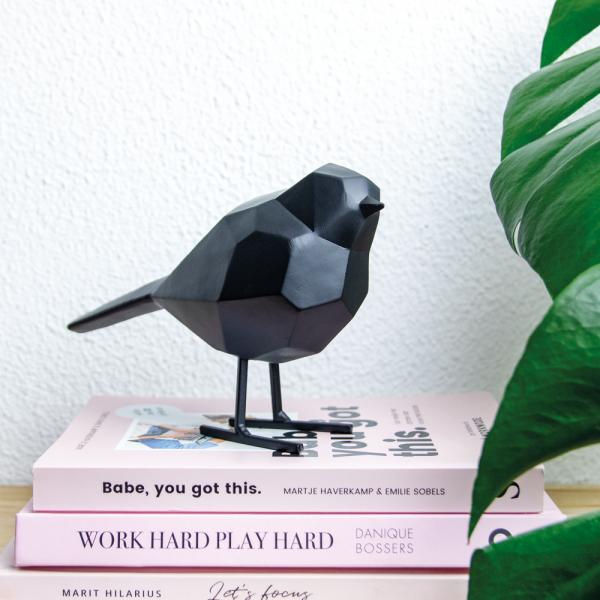 Zwart vogeltje van Present Time
