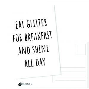Kaartje eat glitter