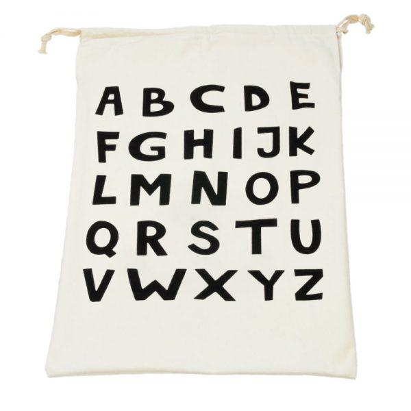 Opbergzak alphabet