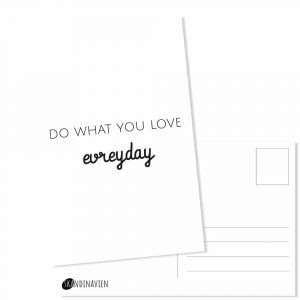 Kaartje do what you love evreyday