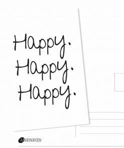 Kaartje happy. happy. happy.