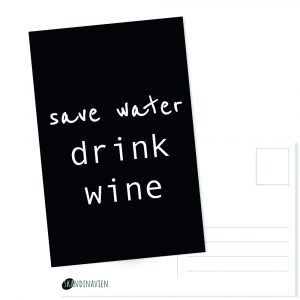 Kaartje save water drink wine