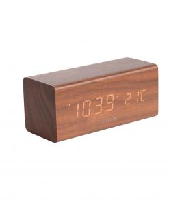 Block Led alarm clock bruin