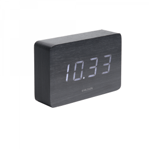 Square led alarm clock zwart