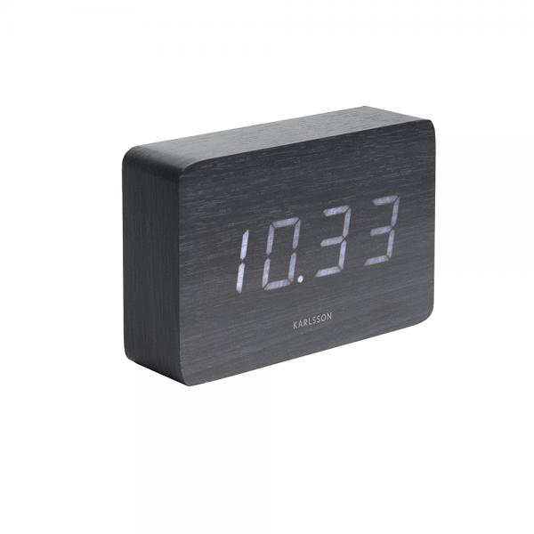 Square led alarm clock zwart