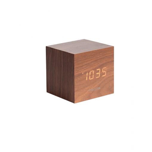 Mini Cube alarm clock bruin