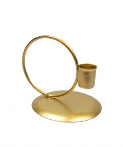 Kandelaar circle goud