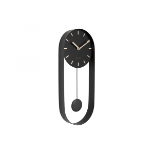Wandklok pendulum charm zwart