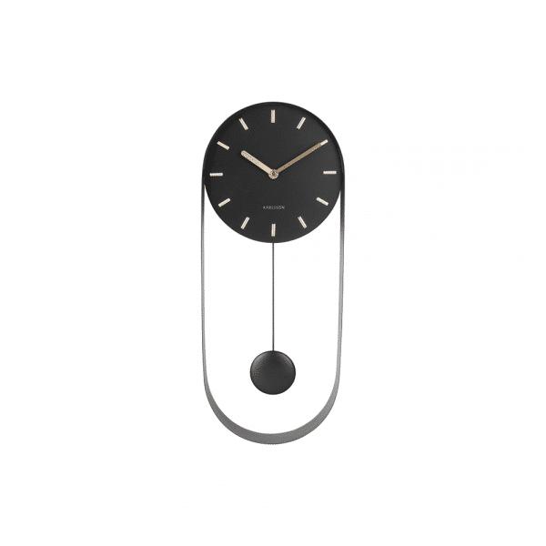 Wandklok pendulum charm zwart_voorkant