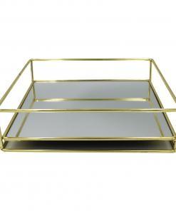 Plateau Rechteck Gold