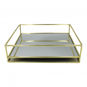 Plateau rectangle goud