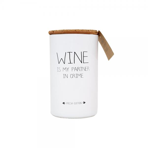 sojakaars wine is my partner in crime