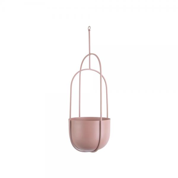 Hangende bloempot spatiel ovaal roze_01