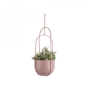 Hangende bloempot spatiel ovaal roze_02