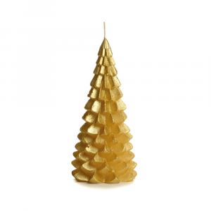 Kerstboom-kaars-goud-medium