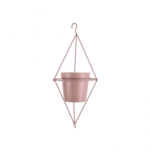 Hangende bloempot spatiel dimond roze_01