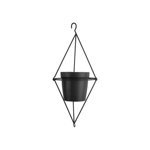 Hangende bloempot spatiel dimond zwart_01