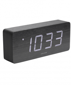Tube led alarm clock zwart van Karlsson