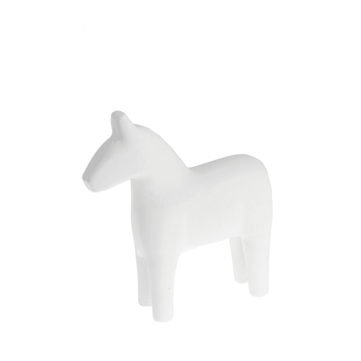 Wit dalarna paardje small van Storefactory
