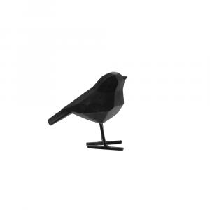 Beeld van zwart velvet vogeltje present time