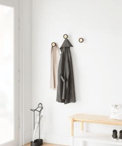 Wandhaken Set von drei schwarz von Umbra Stimmung Foto