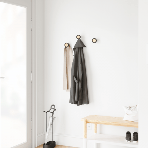 Wandhaken set van drie zwart van Umbra sfeerfoto