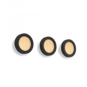 Wandhaken set van drie zwart van het merk Umbra