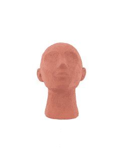 Ornament hoofd terracotta