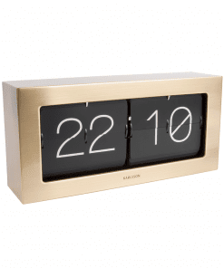 Boxed Flip Clock Gold der Marke Karlsson