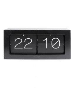 Black boxed Flip Clock von Karlsson