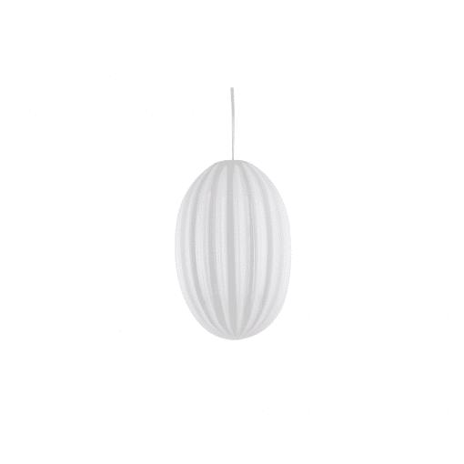 Hängelampe smart oval weiß klein von Leitmotiv out