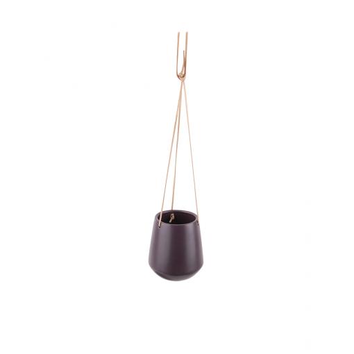 Hangende plantenpot skittle donker paars large
