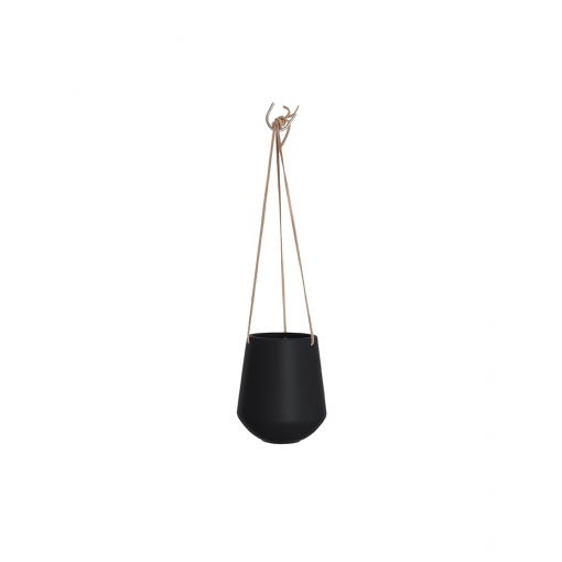 Hangende plantenpot skittle zwart large