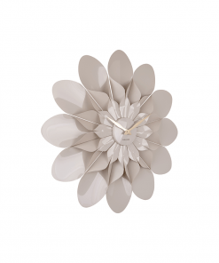 Wandklok flower warm grey van Karlsson