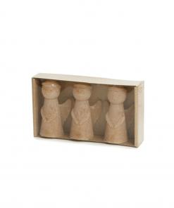 Kaars engel small set van 3 fudge van Rustik Lys
